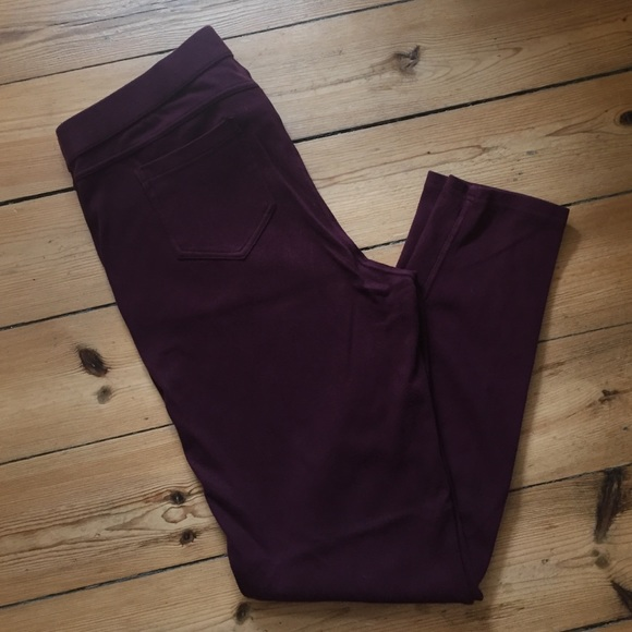 factory price latest double coupon Burgundy colored Simply Vera Wang Jeggings, XL