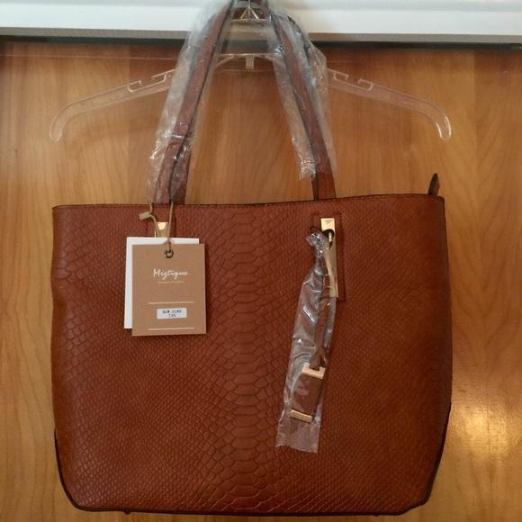 prevalent shop for original footwear NWT Miztique Faux Leather Tote Handbag NWT