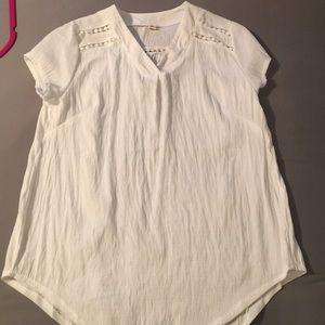 Lightweight white summer shirt
