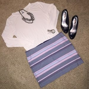 GAP Dresses & Skirts - Pink and blue striped skirt