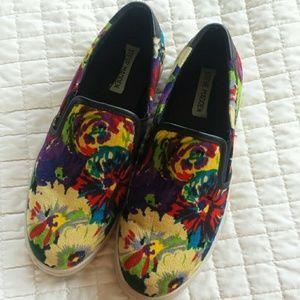 Steve Madden floral slip on sneakers