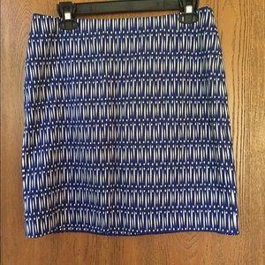 Ann Taylor Ikat printed skirt