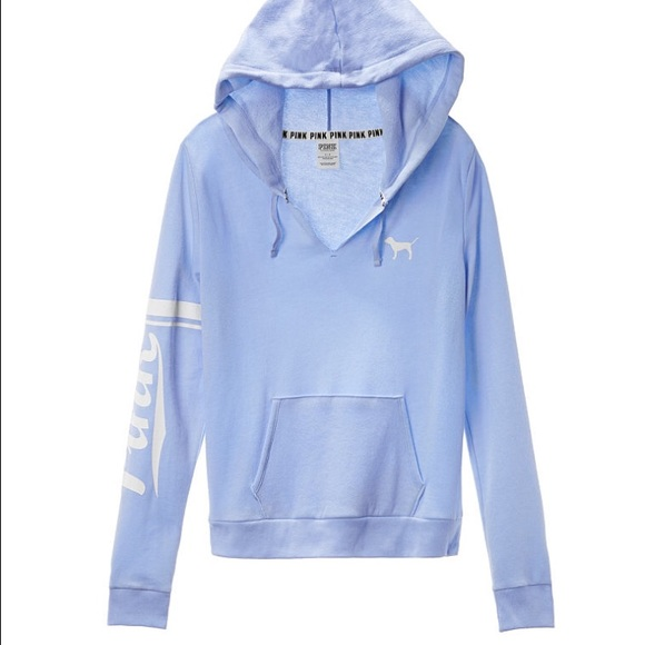 30% off PINK Victoria's Secret Sweaters - NWT light blue hoodie ...