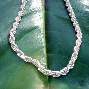 Vintage Sterling silver rope link - 925 - Italy