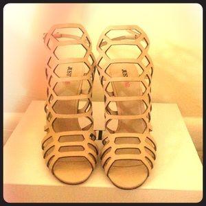 Caged Nude Sandal