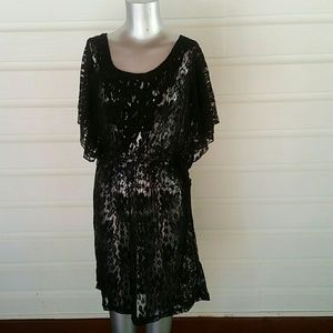 Halo Tops - Black Lace Top / Dress Sheer