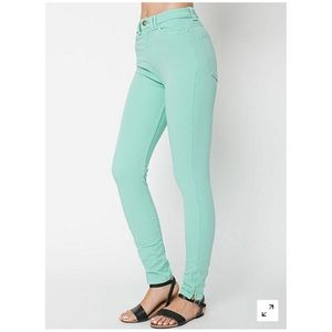 American Apparel Mint High Waisted Skinny Jeans