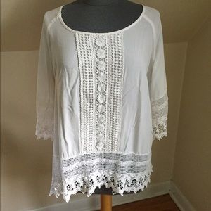 Solitaire White Embroidered Top