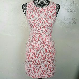 Tart Dresses & Skirts - Pink Crochet-Lace Dress with Pockets by TART