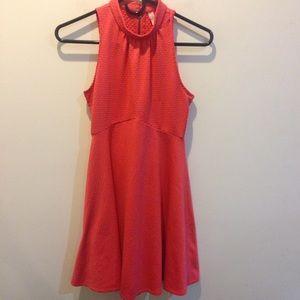 Free People Dresses & Skirts - FREE PEOPLE Bright Orange Sleeveless Skater Dress