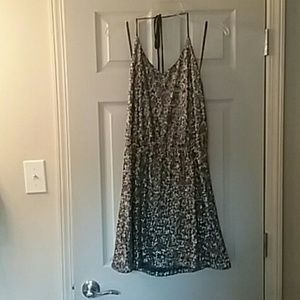 Francesca's Collections Dresses & Skirts - Gold sequence halter glitter dress by Francesca's