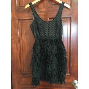 Feathered Retro Glam Dress
