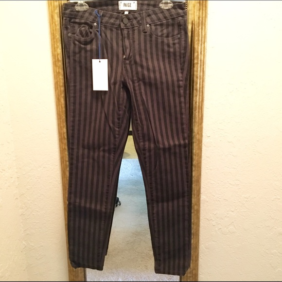 65% off Paige Jeans Denim - Paige Verdugo Ankle black grey stripe ...