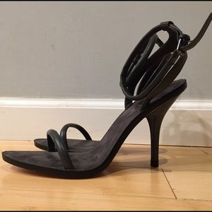 Brand New Leather Zara Ankle Straps Heels