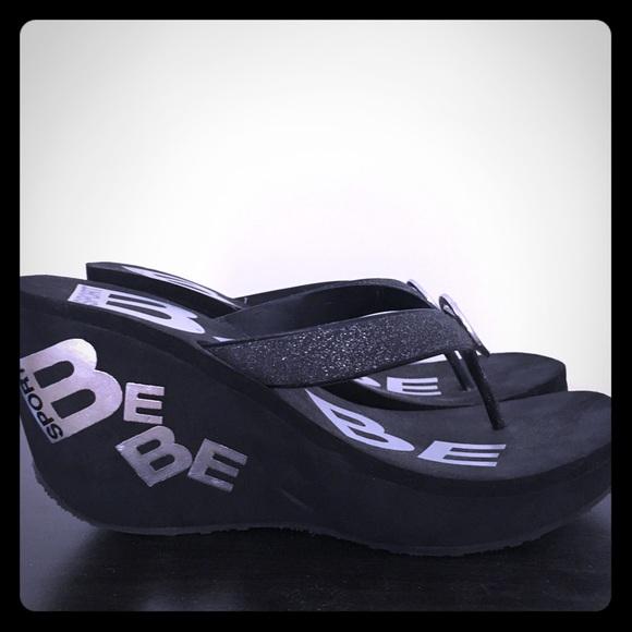 13d8819ba8c1 bebe Shoes - Bebe sport foam wedge flip flop