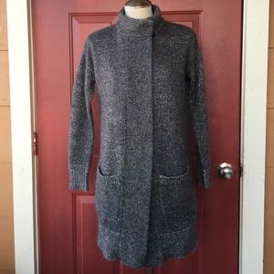Aritzia Jackets & Blazers - Babaton Gray Wool/Alpaca Long Cardigan Coat