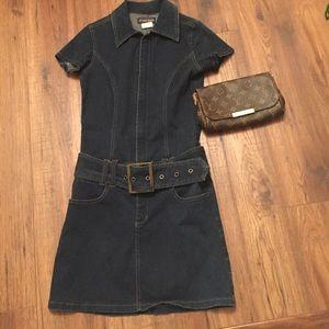 Armor Lux Dresses & Skirts - Denim mini dress a closet MUST!!!