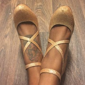 Traffic Shoes - Gold Sparkle Heels