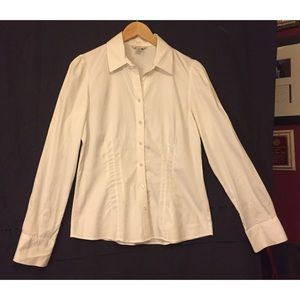 Banana Republic fitted white button up shirt