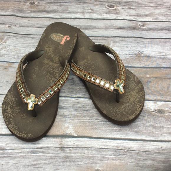 ecfbdd9340e8a Justin Boots Shoes - JUSTIN CROSS FLIP FLOPS