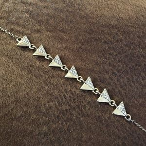 SLATE triangle pavé bracelet
