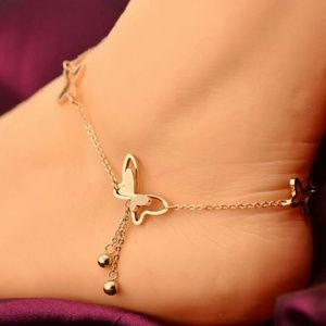 Jewelry - Charming Butterfly - Rhinestones Anklet