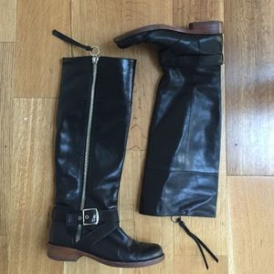 Coach Shoes - Coach black leather moto knee boots