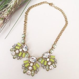 Jewelry - ⛱FIRM⛱Green Yellow Stones Statement Necklace