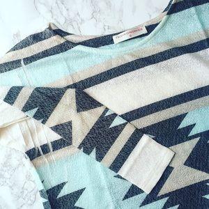 Boho Aztec Knit Sweater