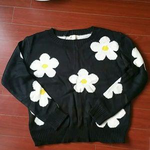Daisy flower sweater