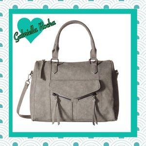 Gabriella Rocha Handbags - NEW! Grey Diagonal Zip Satchel by Gabriella Rocha