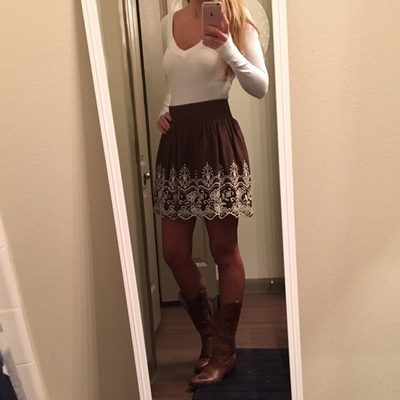 6bc9469e8a Charlotte Russe Skirts   Brown Country Girl Skirt   Poshmark
