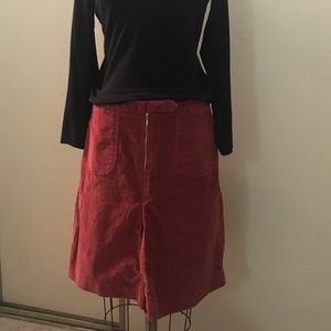 Mossimo Supply Co Dresses & Skirts - Rust A-line corduroy skirt