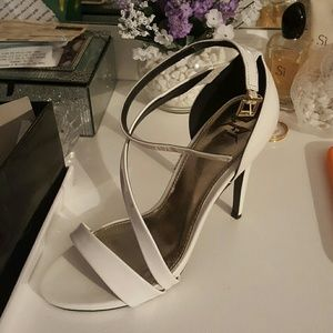 Shoes - White stiletto sandals