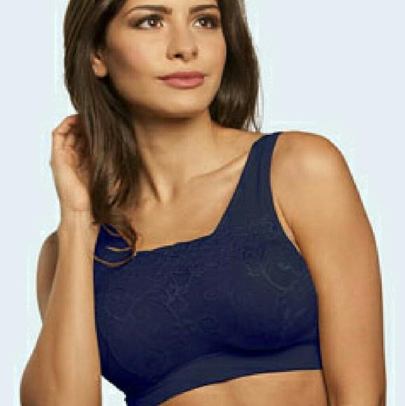 3a599a21e4 Genie Bra Milana Other - Bundle of 2 Navy Blue Milana Lace Genie Bras New!