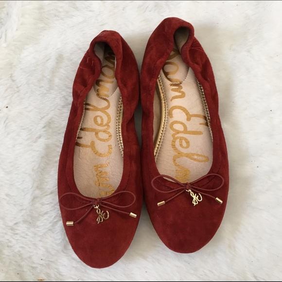 17753d49125361 Sam Edelman Felicia red suede ballet flat 7. M 57ad4f9f99086a86c9005886