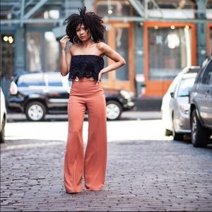Zara buttoned palazzo trousers