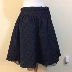Children's Place Other - Black Polkadot Midi Skirt