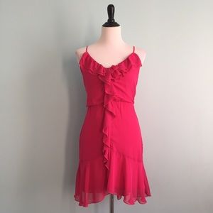 Teeze Me Dresses & Skirts - Hot Pink Ruffle Dress
