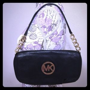 Michael Kors Handbags - MICHAEL KORS Fulton Small Black Leather Clutch