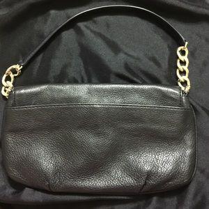 Michael Kors Bags - MICHAEL KORS Fulton Black Leather Clutch - BG-10