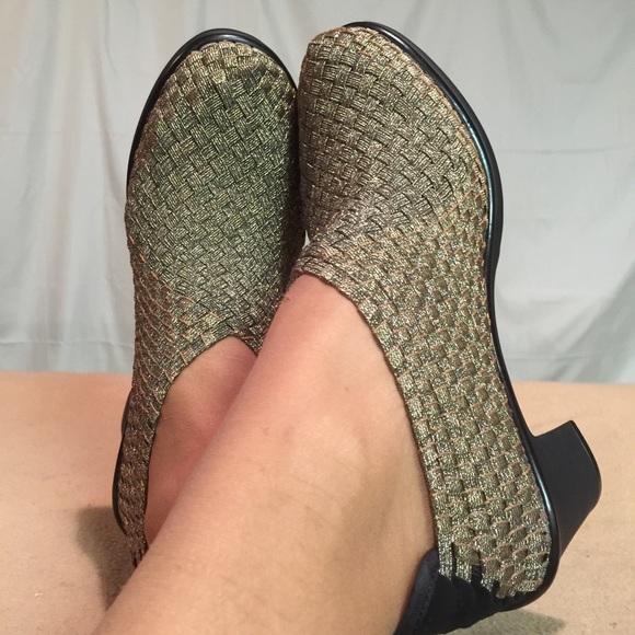 53c3cb93fc1 New Steve Madden Gold Stretch Comfortable Heels