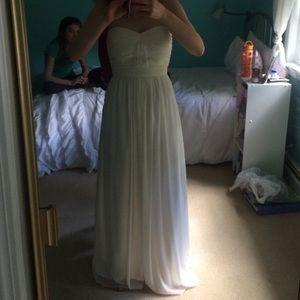 Dresses & Skirts - PROM SALE!:) white floor length prom/wedding dress