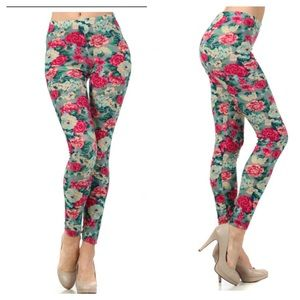 Floral leggings NWT