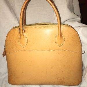 Auth Hermes Bolide 31 natural Vache leather 2 way