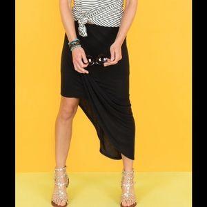 Bench Dresses & Skirts - Evereve Black Asymmetrical Jersey Skirt by Bench