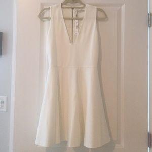 Alice and Olivia Kimbrella Flared Dress - Cream