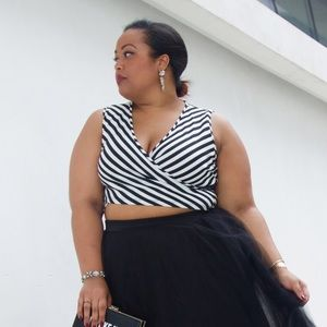 Fashion to Figure Tops - 💥PLUS💥 Stripe Crop Top