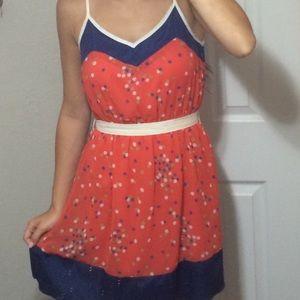 Ya Los Angeles Dresses & Skirts - Orange polka dotted dress