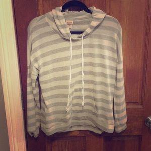 Light & airy striped sweatshirt
